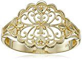 14k Yellow14k Yellow 14k Yellow Gold Diamond Cut Filigree Ring, Size 7  by Amazon Collection  Buy new: CDN$ 138.95 CDN$ 102.17  (Visit the Bestsellers in Rings list for authoritative information on this product's current rank.) SOURCE: Amazon.ca: Bestsellers in Jewelry > Women > Fine > Rings