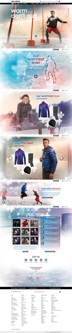 adidas - Climawarm collection microsite by Alexandre Desjardins, via Behance