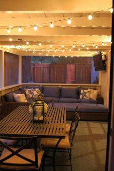 31 Ideas for backyard patio diy on a budget front doors Patio Diy, Backyard Patio, Backyard Ideas, Diy Porch, Patio Ideas With Hot Tub, Patio Tv Ideas, Diy Screen Porch, Covered Deck Ideas On A Budget, Cheap Patio Ideas