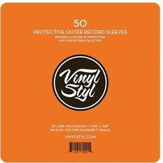 """Vinyl Styl™ 7 9/16"""" X 7 5/8"""" 3 Mil Protective Outer Record Sleeve 50CT"""
