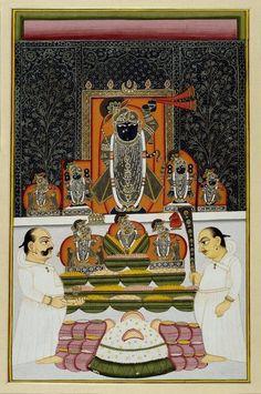 The autumn Annakuta Festival. This annual festival is observed by donating a… Pichwai Paintings, Indian Paintings, Rajasthani Painting, Art Pass, Lord Krishna, Shree Krishna, Shiva, Indian Folk Art, Krishna Wallpaper