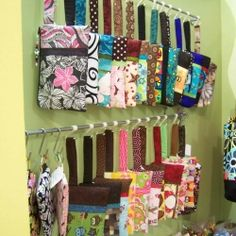 Great idea for organizing purses, hats, belts, & scarves...S hooks on a bar!