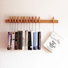 Pendure os livros na parede
