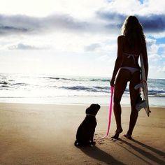 Surf girl + best friend