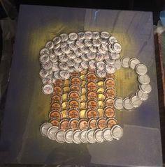 Diy Bottle Cap Crafts 852095191983333343 - How to Make Home Decorations on a Budget – DIY Beer Bottle Cap Table Beer Mug made of Bottle Caps Source by Diy Bottle Cap Crafts, Beer Cap Crafts, Bottle Cap Projects, Craft Beer, Beer Cap Table, Bottle Cap Table, Bottle Top Art, Beer Cap Art, Upcycled Crafts