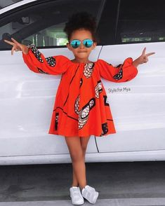 Ankara Styles For Kids; Little Girls And Baby Girls Ankara Styles Baby African Clothes, African Dresses For Kids, African Children, Latest African Fashion Dresses, African Print Fashion, Africa Fashion, Ankara Fashion, African Prints, African Fabric