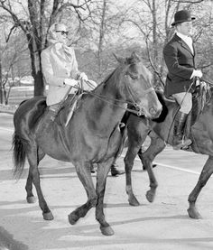 Grace Kelly riding side saddle in Central Park, New York in 1955.