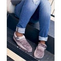 These easy-to-knit slippers are unisex and easy to size.$5.50
