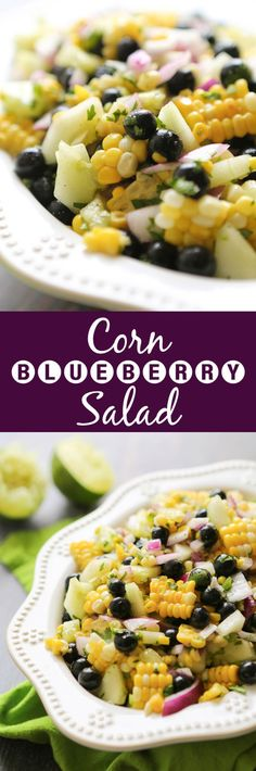 Corn and Blueberry Salad | This salad is super fresh and NEEDS to be added to your summer list!