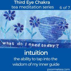 7 Days 7 Chakras Third Eye Chakra Tea Meditation, Intuition