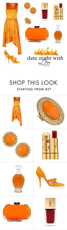 """""""SWD The Niflheim - date night with King Leo"""" by thatshippertypefangirl ❤ liked on Polyvore featuring Preen, Liz Palacios, Henry Jacques, Oscar de la Renta and Yves Saint Laurent"""