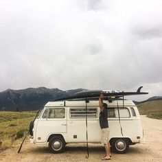 All you need is your #Bus and #Boards! #Beach #RoadTrip #Travel #Volkswagen #Wanderlust