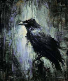 "Beautiful painting titled ""City Bird"" by American Artist Lindesy Kustuch See other art here http://www.lindseykustusch.com/past-work.html"