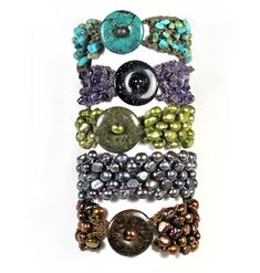 Marion Jewels in Fiber - News and Such: Knitted Bracelet with C-lon Bead Cord & Beads