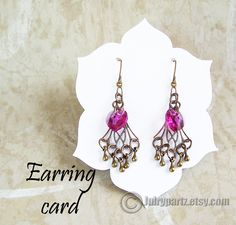 A personal favorite from my Etsy shop https://www.etsy.com/listing/233284874/blossomearring-cardtag-setjewelry
