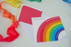 My Little Rainbow - Birthday Invitation / Rainbow Party. $5.00, via Etsy.