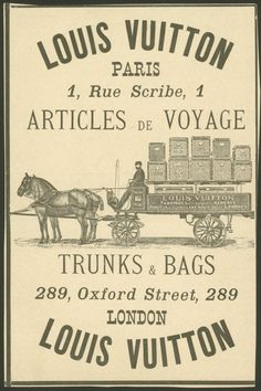 Vintage Ads - Louis Vuitton Paris Voyage & Travel Trunks
