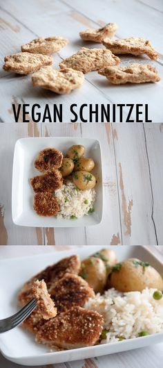 #vegan Schnitzel - a traditional austrian dish veganized! Uses TVP for the basis.