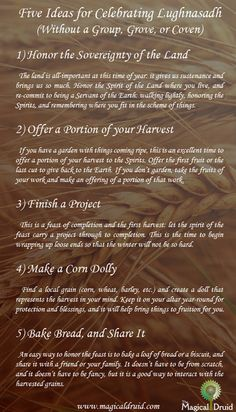 Five Ideas for Celebrating Lughnasadh
