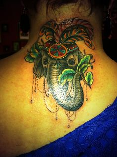 My new Elephant tattoo .