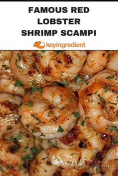 Tastes EXACTLY like the Red Lobster Shrimp Scampi. It's a favorite recipe in our… Tastes EXACTLY like the Red Lobster Shrimp Scampi. It's a favorite recipe in our home! Shrimp Recipes For Dinner, Shrimp Recipes Easy, Seafood Dinner, Fish Recipes, Seafood Recipes, Appetizer Recipes, Cooking Recipes, Healthy Recipes, Gastronomia