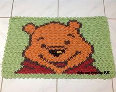 Tapete Crochê Personagem Ursinho Pooh