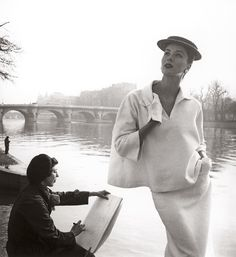 The Work of Louise Dahl-Wolfe - Suzy Parker by the Seine , Balanciaga 1953 All photographs by Louise Dahl-Wolfe. - The New York Times