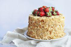 Торт Наполеон со сгущенкой рецепт