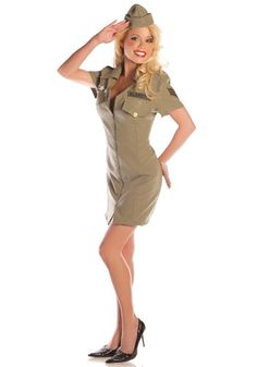 Sexy Fly Girl Military costume #Halloween #PinUp