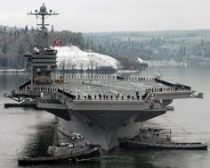 The John C Stennis looking so big and strong!  Love this carrier because my son is on it!  GO NAVY