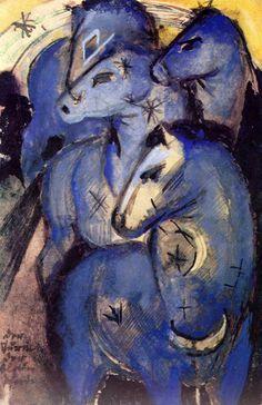 Franz Marc, Turm der blauen Pferde, 1913