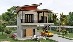 Simple two storey house with two bedrooms Cool House Concepts in 2020 Two storey house Luxury house designs Modern bungalow house