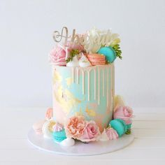 Happy first birthday 💕 Topper Studio – cakes – … - Party - first birthday cake-Erster Geburtstagskuchen 13 Birthday Cake, Birthday Cakes For Teens, Birthday Cake Decorating, Girls First Birthday Cake, Birthday Cake For Mother, Buttercream Birthday Cake, 27th Birthday, Teen Cakes, Bolo Cake