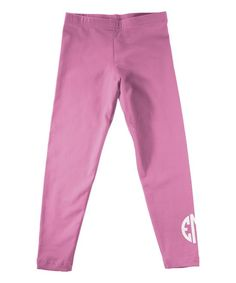Hot Pink Monogram Leggings - Infant Toddler & Girls