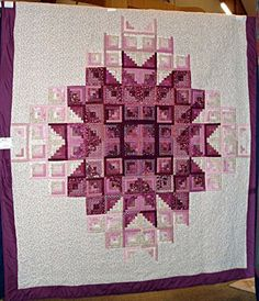 Log Cabin Star Burst Quilt