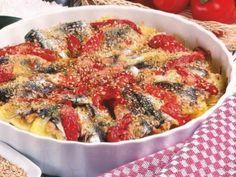 Ricetta Portata principale : Tortino di patate, acciughe e pomodori da Red_alessia_red