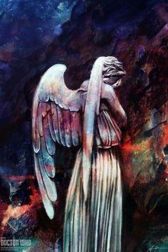 Resultado de imagem para doctor who angels art
