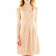 $50  9 & Co.® Pleat Lace Dress - jcpenney