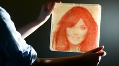 Celebrity portraits created using bacteria from their own bodies