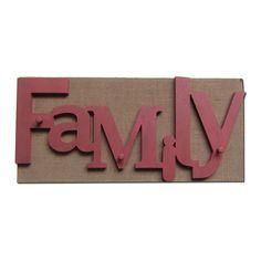 Colgador decorativo 3 ganchos FAMLILY LETTERS (Colgadores decorativos) - Sillas de diseño, mesas de diseño, muebles de diseño, Modern Classics, Contemporary Designs...