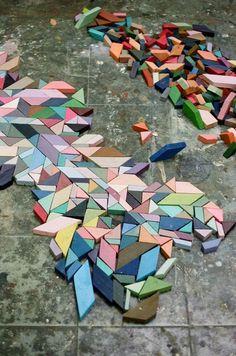 Geo Wood Blocks - Modern Blocks - Colorful Tiles | Small for Big