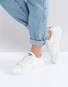 adidas Originals COURTVANTAGE - Sneaker low - white/gold ...