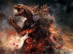 Godzilla 2014 concept art