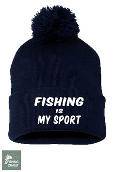 Fishing Is My Sport Knit Cap  71774a32dc90