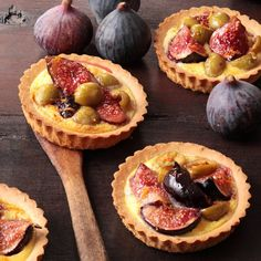 Tartelette aux figues et olives vertes / Figs and green olives tart