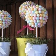 DIY Easter Candy Topiary