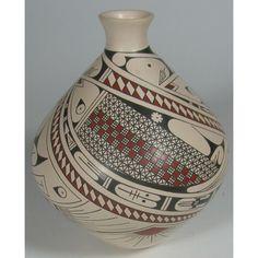 "Mata Ortiz Pottery by Daniel Gallegos, 6.5""h, $245, culturalart.org"
