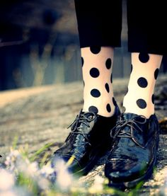 polka dotted socks