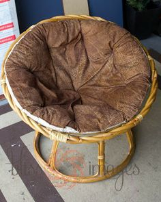 Bliss Images and Beyond: Papasan Makeover No sew cushion cover