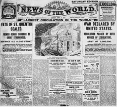 Vintage photos showing some historical headlines to appear in British newspapers over more than a century. The World Newspaper, Vintage Newspaper, Newspaper Report, Newspaper Headlines, Diesel Punk, Headline News, A Day To Remember, World War One, American History
